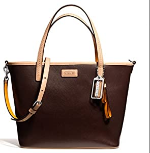 Coach Metro North Large Magohony Leather Tote F31326