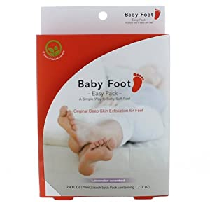 Baby Foot Easy Pack Orignal Deep Skin Exfoliation for Feet, 2.4-Ounce (70ml) 0.5 Pounds