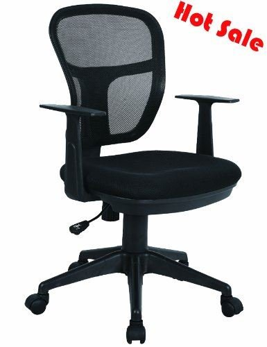 94700 NEW 2013 MODEL LUXURY BLACK MESH FABRIC ADJUSTABLE/SWIVEL OFFICE/PC CHAIR