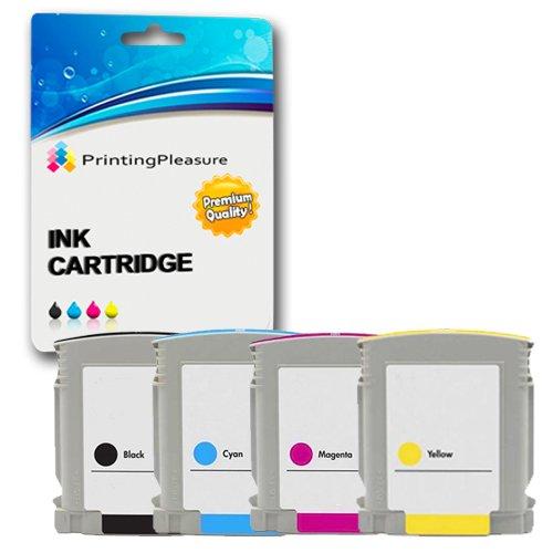 Printing Pleasure - ( 1Set ) High Quality Cartucce di inchiostro HP 10 & HP 11 Compatibile Per HP Stampanti Business Inkjet 1000, 1100d, 1100dtn, 1200, 1200d, 1200dn, 1200dtwn, 1700C, 1700CP, 2200, 2230, 2250, 2280, 2300, 2300dtn, 2300n, 2600, 2600dn, 2800, 2800dt, 2800dtn, Jet 1200, HP CP1700, Designjet 100, 100 Plus, 110, 110plus, 110plus nr, 110plus r, 70, Deskjet 2200C, 2250, Officejet 9110, 9120, 9130, Pro K850