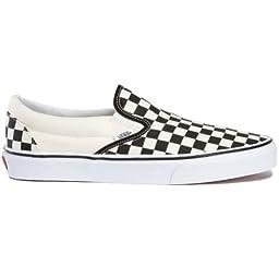 Vans Unisex Classic Slip-On (Checkerboard) Blk&whtchckerboard/Wht Skate Shoe 6.5 Men US / 8 Women US