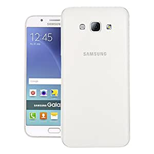Galaxy A8 Case, Translucent Slim Jacket Matte Slim Fit Protection Back Cover For Samsung Galaxy A8 (White)