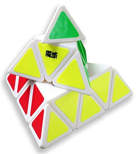 Yongjun Moyu Triangle Magic Cube Yj Pyramid Speed Puzzle Cube White - 1