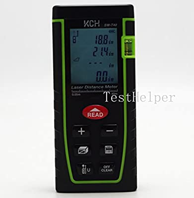 TestHelper SW-T60 Laser Distance Meter 60M/197ft/2362in Handheld Mini Measure Finder Diastimeter with Function of Self Calibration