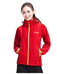 Makino Women's WaterProof Thick Polar Fleece Softshell Jacket