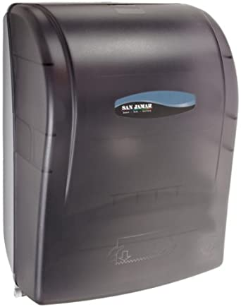 "San Jamar T7000TBK 11.82"" Width x 16.09"" Height x 9.25"" Depth, Black Pearl Simplicity Mechanical Hands Free Towel Dispenser"