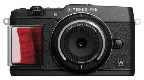 OLYMPUS ミラーレス一眼 PEN E-P5 ボディ(ボディキャップレンズ BCL-1580セット) ブラック プレミアムモデル E-P5 BODY BLK PR