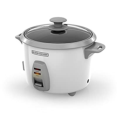 Black & Decker RC436 7-cup Uncooked/16-cup Cooked Rice Cooker, White from Black Decker