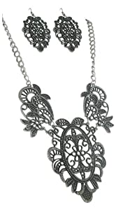 Young Restless Jewelry Fleur De Lis Paisley Cutout Designer Inspired Necklace