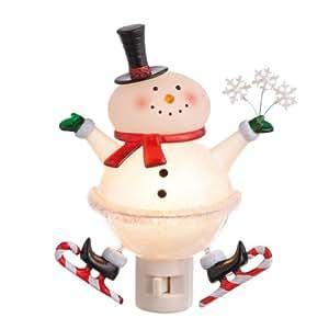 Christmas Night Light Snowman Skater Midwest Cbk Night