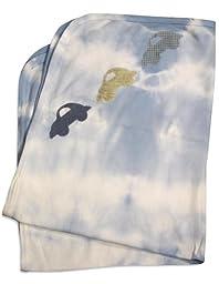 Baby Kakes - Baby Boys Tie Dye Receiving Blanket, Light Blue 31753-onesize