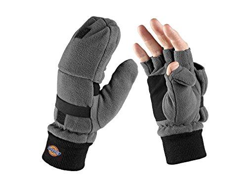 Dickies GL8005 - Guanti a mezze dita con muffola, colore: Grigio
