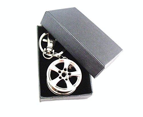 Portachiavi di design con cerchione , nuovo in confezione regalo