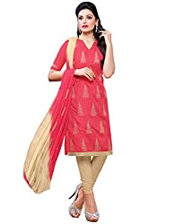 Fabgruh Women's Cotton Unstitched Dress Material (FG-SHD49010_Pink_Free Size)
