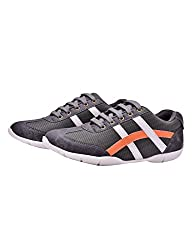 Fentacia Womens Grey Synthetic Leather Running Shoes -4 UK