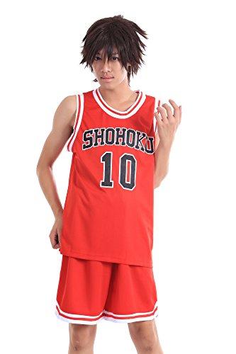 купить WS_COS Slam Dunk Shohoku High Sakuragi Hanamichi Red 10 Jersey V2 Set M недорого