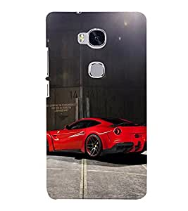Racing Car 3D Hard Polycarbonate Designer Back Case Cover for Huawei Honor 5X :: Huawei Honor X5 :: Huawei Honor GR5