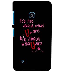 PrintDhaba Quote D-4901 Back Case Cover for NOKIA LUMIA 530 (Multi-Coloured)