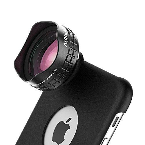 AUKEY 広角レンズ HD 110°0.7×ワイドレンズ クリップ式/iPhone 6s Plusケース付属 Samsung Galaxy、Sony、Androidスマートフォン、タプレットなどにも対応 PL-WD04