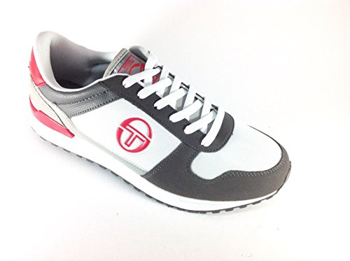 sergio tacchini metric scarpa running moda sneaker uomo bianco-grigio 44