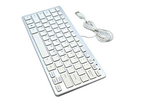 Easybuyeur Mini Keyboard Ultra Slim USB Wired for PC Laptop Win XP 7 8 Desktop