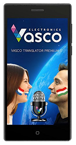 "Vasco Translator Premium 5"" Voice recognition, Speak and translate, Native speaker pronunciation"