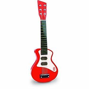 Vilac Rock-n-Roll Toy Guitar (Red)