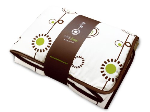 Olli & Lime george Crib Quilt, Green/White