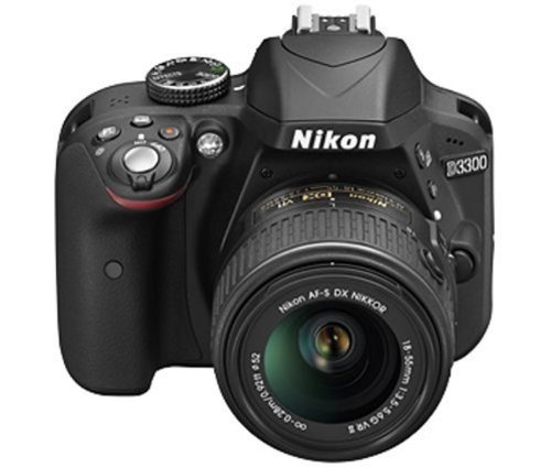 Nikon-D3300-Digital-SLR-Camera-Black-with-AF-S-DX-18-55mm-VR-II-and-AF-S-DX-55-200mm-VR-II-Double-Zoom-Kit-with-8GB-Card-Camera-Bag