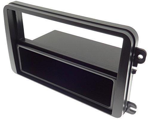 Doppel-DIN-Blende-mit-ISO-Ablagefach-Radio-Seat-Skoda-VW-Golf-5-Touran-Caddy-KFZ