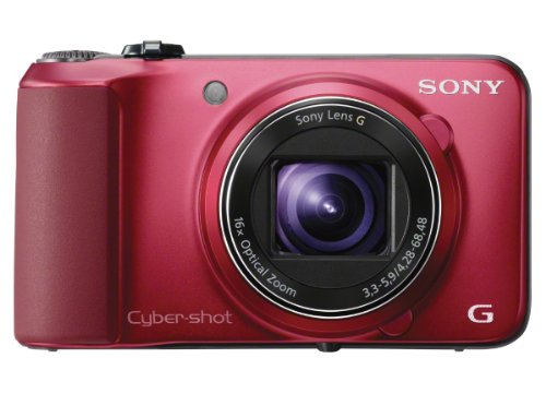 Sony Cyber-shot DSC-HX10V 18.2 MP Exmor R CMOS Digital Camera with 16x Optical Zoom and 3.0-inch LCD (Red) (2012 Model)