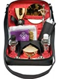 Mass Kit Includes: Chalice, Paten, Pyx, Crucifix, 2 Glass Bottles, 2 Candles, Stole, Linens Zippered Carrying Case.