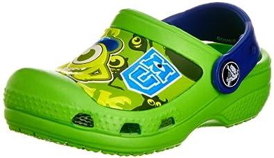 Crocs Cc Monsters Clog, Sabots mixte enfant, Vert (Neon Green/Cerulean Blue), 19-21 EU (C4-C5)
