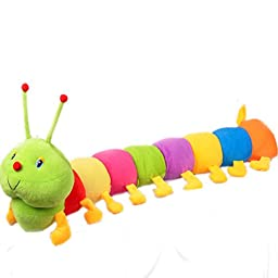 Colorful caterpillar centipede bugs doll children\'s gift Valentine\'s Day gift plush toys (86.6 in)