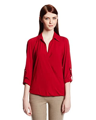 Karen Kane Women's Crossover Shirt Tail Top