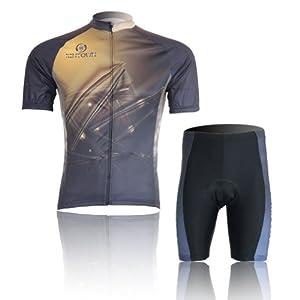 Buy Baleaf Mens Short Sleeve Cycling Jersey Gold Galaxy Style by Baleaf