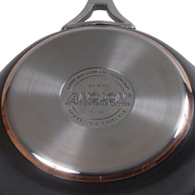Anolon Nouvelle Copper Hard Anodized Nonstick 3-Quart Covered Casserole