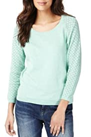 Indigo Collection Pure Cotton Pointelle Jumper [T66-2032-S]