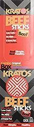 Kratos Beef STICK (24) Mixed Flavor (Original, Jalapeno, Smokey Sweet)
