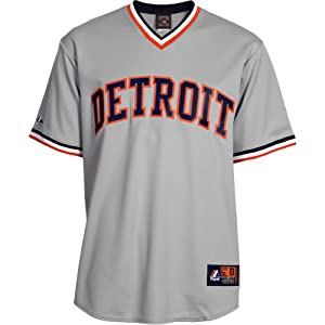 Majestic Athletic Detroit Tigers Blank Cooperstown Replica Road Jersey by Majestic Athletic