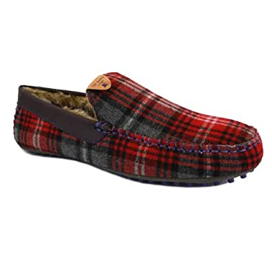 Ted Baker Carota 2 9-11958 Mens Slip On Textile Slippers Red Multicolour - 12