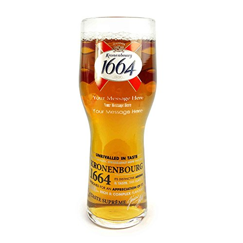 Tuff-Luv Personalised / Engraved Pint / Glass / Glasses / Barware CE 20oz / 568ml for Kronenberg 1664 (Beer Glasses 1664 compare prices)