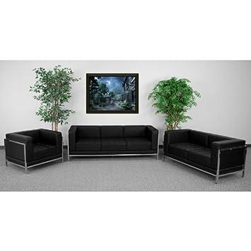3pc Modern Leather Office Reception Sofa Set - FF-0433-12-S2