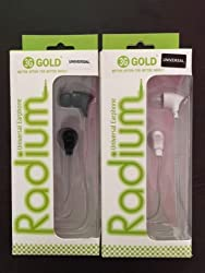 3G Gold Radium Universal smart earphone/Mic Earphones Headphones With Mic cable