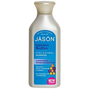 Jason Pure Natural Shampoo, Restorative Biotin, 16 Ounce