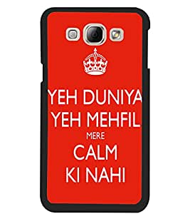 ColourCraft Funny Quote Design Back Case Cover for SAMSUNG GALAXY A8