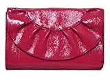 Baekgaard Rouge Red Deja Vu Leather Clutch, Vera Bradley