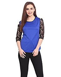 Blue Bare-Shoulder Top X-Small