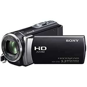 Sony HDRCX190 Caméscopes à mémoire Flash Port SD/Memory Stick Full HD 5,3 Mpix Zoom optique 25x Noir