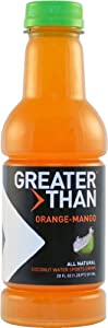 Greater Than Coconut Water Sports Drink, Orange-Mango, 20-Ounce Bottles (Pack of 12)